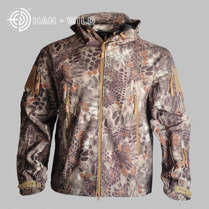 Men's TAD Softshell Tactical Jacket Outdoor Sport Camouflage Hunting Clothes Jacket Or Pants Military Suits For Climbing Hiking
