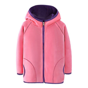 2020 Winter Kids Boys & Girls Fleece Soild Color Long Sleeve Coat  Infant Clothing Children's Jacket Baby Outerwear Kids Costume