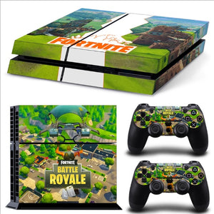Fortnites PS4 Pro Skin Sticker Fortress Night Skin Sticker Sony Playstation 4 Console 2 Controllers PS4 Skin Sticker