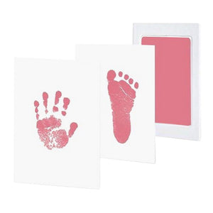 0-12M Newborn Safe Non-toxic  Footprints Handprint No Touch Skin Inkless Ink Pads Kits Pet  Paw Prints Souvenir