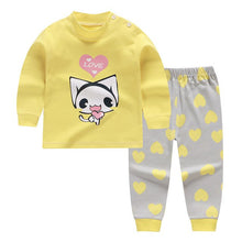 Load image into Gallery viewer, Girls Boys 2pcs Autumn 6M-4T Baby Girl Long Sleeve Children's Sets O-Neck Cotton Underwear Suit toddler girl  Winter clothes