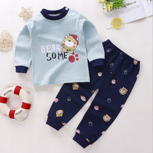 Girls Boys 2pcs Autumn 6M-4T Baby Girl Long Sleeve Children's Sets O-Neck Cotton Underwear Suit toddler girl  Winter clothes