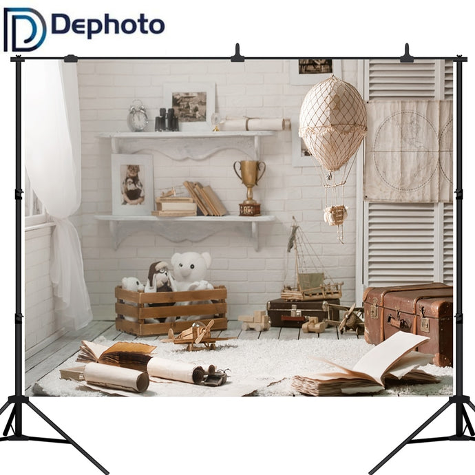 Dephoto Photography Background Newborn Baby Room Toy Traveling Case Computer Print Children Backdrops for Photo Studio