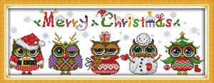 Snowman Patterns Counted Cross Stitch kit Sale Christmas owl Print Fabric Embroidery Thread Set DIY Handmade Home Decor Crafts