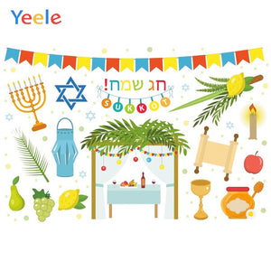 Customized Vinyl Photography Backdrops Hanukkah Theme Photography Background for Photo Studio Newborn Photocall Background Props