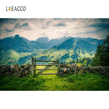 Load image into Gallery viewer, Laeacco Rural Natural Landscape Photophone Mountains Grassland Photography Backgrounds Portrait Photo Backdrops Photozone Props