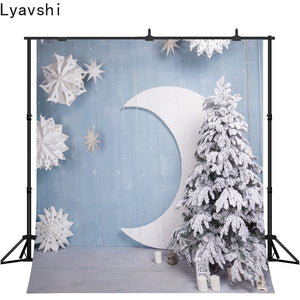 Lyavshi Moon Stars christmas tree Baby Photography Backgrounds Custom Photographic Backdrops for Photo Studio