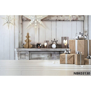 Yeele Christmas Tree Star Wooden Wall Floor Interior Photography Backgrounds Customized Photographic Backdrops for Photo Studio