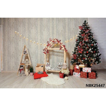 Load image into Gallery viewer, Yeele Christmas Tree Star Wooden Wall Floor Interior Photography Backgrounds Customized Photographic Backdrops for Photo Studio
