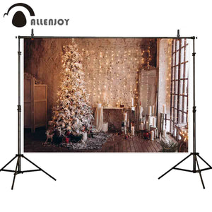 Allenjoy Baby Shower Newborn Christmas Backdrop New Year Vinyl Fabric background for photography Holiday Family photocall banner
