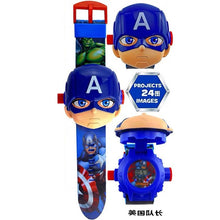 Load image into Gallery viewer, Children Watch The 3D Projection Cartoon Ultraman Spiderman Ironman Princess Digital Watches Kids Watches Toy
