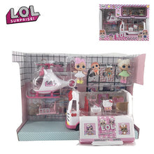Load image into Gallery viewer, LOL Surprise House Doll Original Dolls Airplane Toys Anime Figures Plane Model Collection DIY Birthday Gifts for Girl