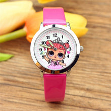 Load image into Gallery viewer, LOL Surprises Originales Cute Pretty Girl Minnie Style Children's Watches Kids Student Girls Quartz Leather Wrist LOLs Watch
