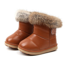 Load image into Gallery viewer, Baby Snow Boots for Girls Boys Winter Boots Baby Rabbit Fur Warm Plush Winter Shoes Kids Warm Cotton Shoes Boots
