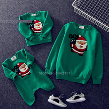 Load image into Gallery viewer, 19colors 2021 New Year Family Christmas Sweaters Xmas Hoodies Pajamas Warm Santa Claus Elk Embroidery Adult Kids Sweatshirt Gift