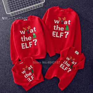19colors 2021 New Year Family Christmas Sweaters Xmas Hoodies Pajamas Warm Santa Claus Elk Embroidery Adult Kids Sweatshirt Gift