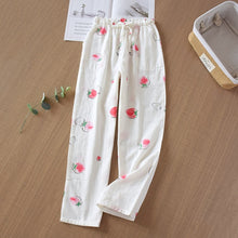 Load image into Gallery viewer, Sleep Bottoms loose new pajamas ladies trousers  Japanese fresh cotton home pants cotton gauze спальные штаны
