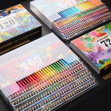 Load image into Gallery viewer, Brutfuner 48/72/120/160 Colors Professional Oil Color Pencils Set Artist Painting Sketching Colored Pencil School Art Supplies