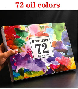 Brutfuner 48/72/120/160 Colors Professional Oil Color Pencils Set Artist Painting Sketching Colored Pencil School Art Supplies