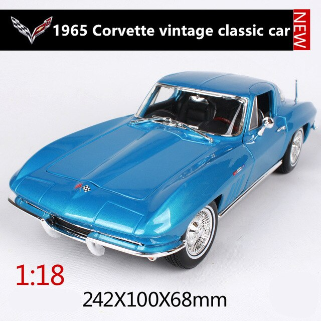 Maisto 1:18 1965 Chevrolet Corvette car alloy car model simulation car decoration collection gift toy Die casting model boy toy