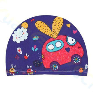 Kids Children Swimming Cap Cute Cartoon Fabric Swiming Pool Water Sport Protect Ears Hat  Boys Girls Swim Bathing Hats Caps