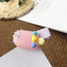 Load image into Gallery viewer, Hairpin Children Girls Barrettes Headdress Clips Ornament Accessories Colored Popsicles Donut