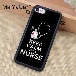 MaiYaCa Nurse Stethoscope Heart Nursing Heartbeat Case For iphone 12 mini 11 Pro Max X XR XS MAX SE 2020 6S 7 8 Plus 5S Cover
