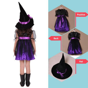 Halloween Costume Euramerican Style Children Cosplay Kids Witch Cosplay Halloween Clothes without Broom Wholesale Quick delivery