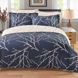 CANIRICA Bedding Set With pillowcase Duvet Cover Pastoral Twin Full Queen King Size Winter Bedroom Bedding Bed Warm