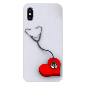 Mobile Phone Cases For Huawei Honor 4C 5C 6X 7 7A 7C 8 9 10 8C 8S 8X 9X 10I 20 Lite Pro Medical Medicine Health Heart Stethoscop
