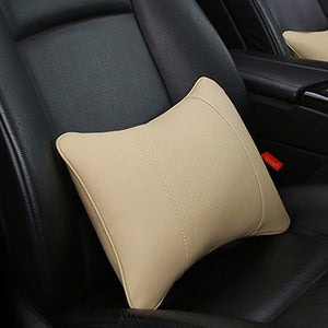 Artificial Leather Car Neck Pillows Support Comfortable Universal Single Headrest Fit For Most Auto Accessories Fills Fiber