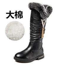 Load image into Gallery viewer, New high quality Genuine leather Girls Long Snow Boots 26-37 Winter Martin boots for Plush Warm Shoes for girls kids Sport Shoes