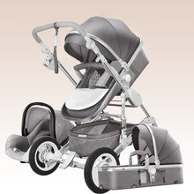 Load image into Gallery viewer, High Landscape Baby Stroller 3 in 1 With Car Seat Luxury Travel Pram Carriage Basket Baby Car Seat and Stroller Carrito Bebe