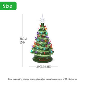 Christmas and Halloween decoration, ceramic tree with orange and purple lights, increase the atmosphere of the holiday