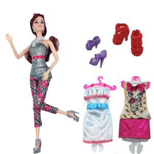 "2020 latest doll princess 11.5 ""fashion doll accessories dress combination set girl best gift interactive toy"