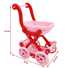 Load image into Gallery viewer, 2020 Fashion 11.5/30CM Couple Barbies Doll 3 Person Combination Stroller Children Educational Toy Girl Best Christmas Gift
