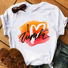 Load image into Gallery viewer, Zumba fitness t shirt women dance lover Christmas T shirt hip hop plus size tshirt summer tops graphic tee women tshirt