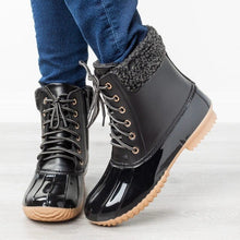 Load image into Gallery viewer, Female boots outdoor waterproof duck hunting boots plus velvet warmth European and American fashion design men and women leisure
