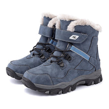 Load image into Gallery viewer, New Kids Snow Boots Winter Boots For Boys 2020 Children Fashion Martin Boot Plush Warm Big Girls Ankle Boots Leather Waterproof