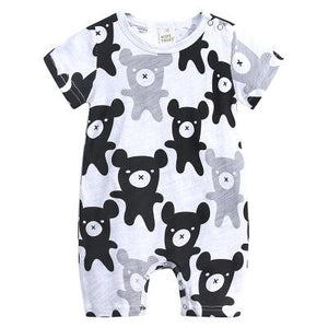 2021 New Born Baby Boys Girls Cartoon Clothing Summer Thin Short Sleeved Rompers Infant Animal Costumes Baby Boutique Clothes