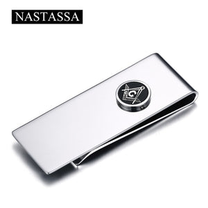 NASTASSA Minimalist Money Metal Clip Titanium Stainless Steel Symbol Money Clips Fashion Accessories For Souvenir Gifts