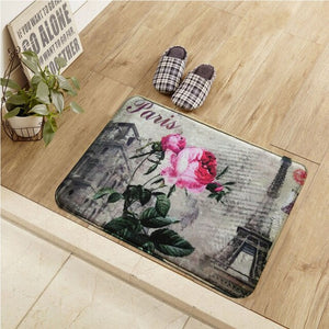 2017 New Design American Style Retro Floor Mat Flower Print Kitchen Carpets And Rugs Anti-Slip Entrance Door Mats 40*60/50*80CM