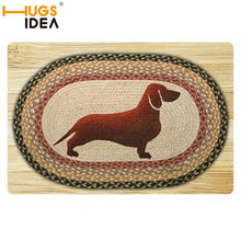 Load image into Gallery viewer, HUGSIDEA Cute 3D Animal Dachshund Dog Print Doormat Living Room Door Rugs Home Decoration Indoor Kitchen Bedroom Carpet 40x60cm