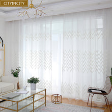 Load image into Gallery viewer, CITYINCITY Ribbon Curtains For livingroom modern Faux linen elegant Curtain for Kitchen Bedroom ready made curtain Customized