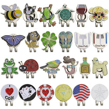 Load image into Gallery viewer, New Arrival Golf Marker w Golf Hat Clip Magnetic Alloy Golf Mark for Golf Ball Sport Drop Shipping