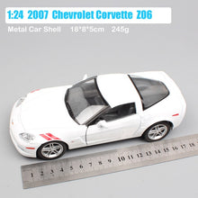 Load image into Gallery viewer, Boys 1:24 Scale Road signature 2007 Chevrolet Corvette Z06 Stingray coupe super racing cars die cast vehicles model toys replica