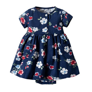 Newborn Infant Baby Girls Clothes Toddler Dresses Babe Girl Cardigan Bodysuit Dress 2019 Spring Summer Baby Girl Clothing Outfit
