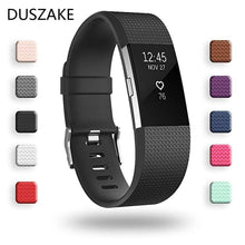 Load image into Gallery viewer, Duszake Silicone Replacement Bands For Fitbit Charge 2 Band Wristband Accessories Wrist Bracelet Strap For Fitbit Charge2 Band