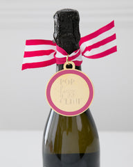 POP FIZZ CLINK Wine/Champagne Tag