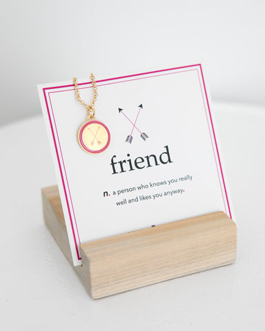 Friend Mini Charm Necklace